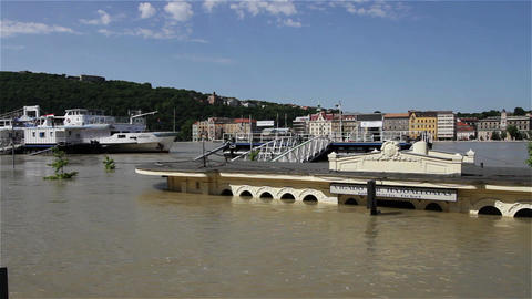 2013 Flood Budapest Hungary 20 Stock Video Footage