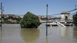 2013 Flood Budapest Hungary 22 Stock Video Footage