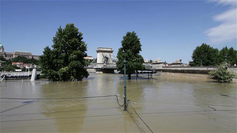 2013 Flood Budapest Hungary 24 Stock Video Footage