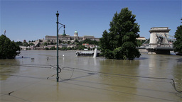 2013 Flood Budapest Hungary 26 Stock Video Footage