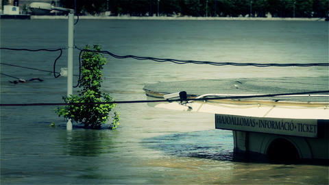 2013 Flood Budapest Hungary 36 stylized Stock Video Footage
