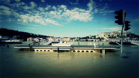 2013 Flood Budapest Hungary 40 stylized Stock Video Footage