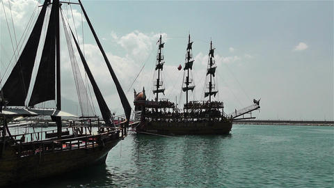 Alanya Turkey 19 port Stock Video Footage