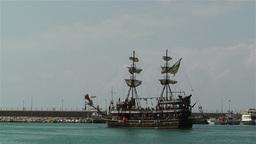 Alanya Turkey 23 port Stock Video Footage
