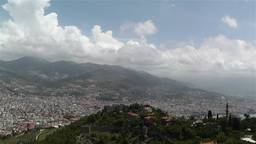 Alanya Turkey 31 aerial from alanya castle Stock Video Footage