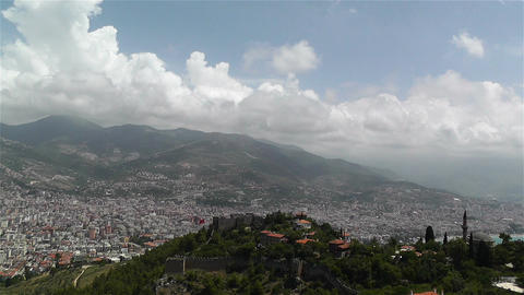 Alanya Turkey 31 aerial from alanya castle Footage