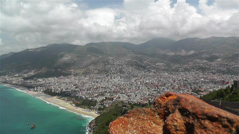 Alanya Turkey 33 aerial from alanya castle Footage