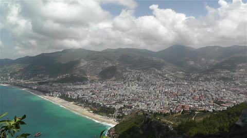 Alanya Turkey 35 aerial from alanya castle Footage
