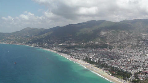 Alanya Turkey 39 aerial from alanya castle Stock Video Footage