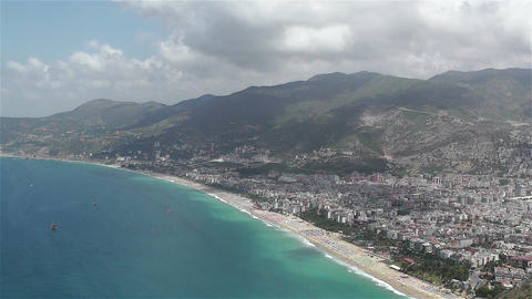 Alanya Turkey 39 aerial from alanya castle Footage