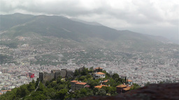 Alanya Turkey 44 aerial from alanya castle Stock Video Footage