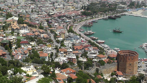 Alanya Turkey 52 aerial Stock Video Footage