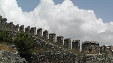 Alanya Turkey 56 castle wall Stock Video Footage