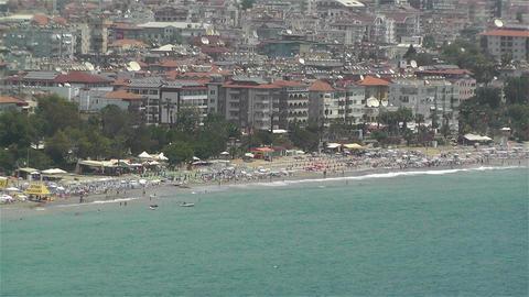 Alanya Turkey 59 aerial Stock Video Footage