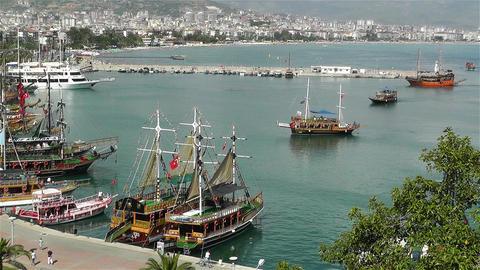 Alanya Turkey 71 port Stock Video Footage