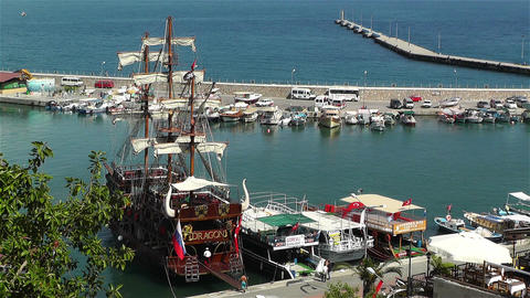 Alanya Turkey 73 port Footage