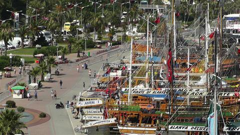 Alanya Turkey 77 port Stock Video Footage