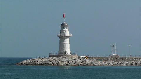 Alanya Turkey 81 lighthouse Stock Video Footage