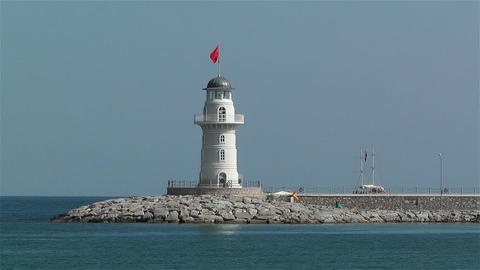 Alanya Turkey 81 lighthouse Stock Video Footage