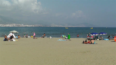 Alanya Turkey 83 beach Stock Video Footage
