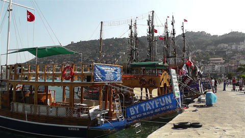 Alanya Turkey 85 port Stock Video Footage