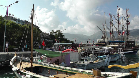Alanya Turkey 89 port Stock Video Footage