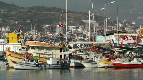Alanya Turkey 94 port Stock Video Footage