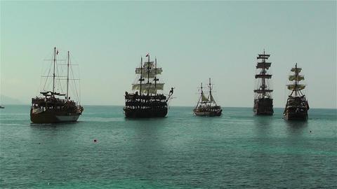 Alanya Turkey 100 ships Footage