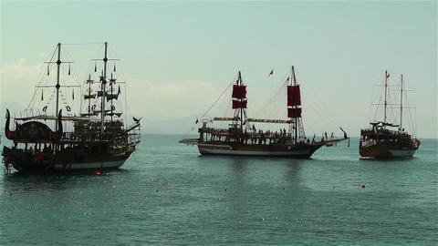 Alanya Turkey 102 ships Stock Video Footage