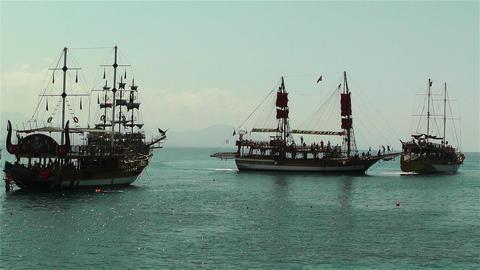 Alanya Turkey 102 ships Footage