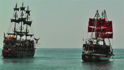 Alanya Turkey 104 ships Stock Video Footage