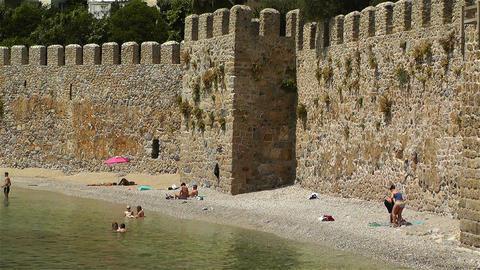 Alanya Turkey 114 beach Stock Video Footage