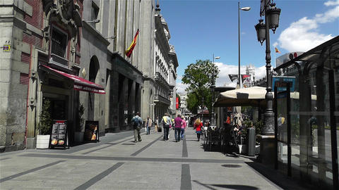 Calle Alcala Madrid Spain 1 Stock Video Footage