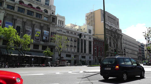 Calle Alcala Madrid Spain 3 Stock Video Footage