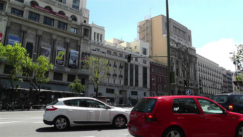 Calle Alcala Madrid Spain 3 Footage