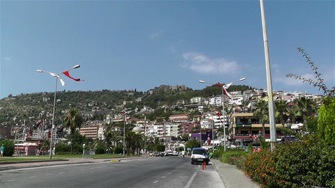 Castle of Alanya Turkey 2 zoom out Footage