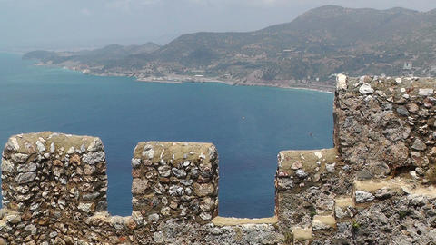 Castle of Alanya Turkey 4 Stock Video Footage