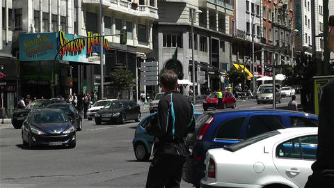 Gran Via Madrid Spain 2 Stock Video Footage