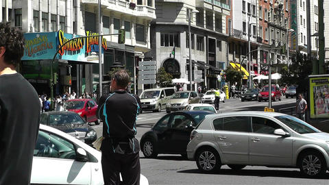Gran Via Madrid Spain 2 Footage