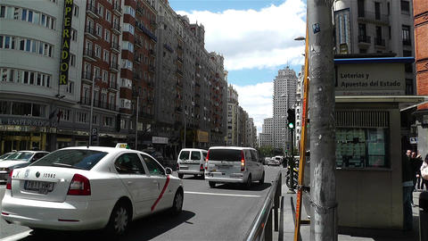 Gran Via Madrid Spain 4 Stock Video Footage