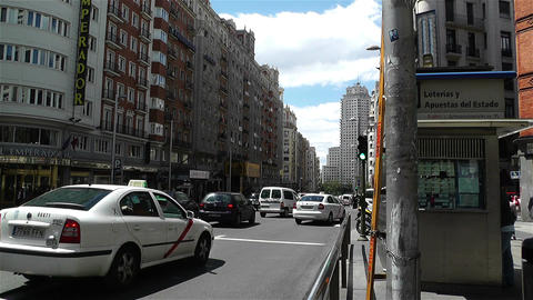 Gran Via Madrid Spain 4 Footage