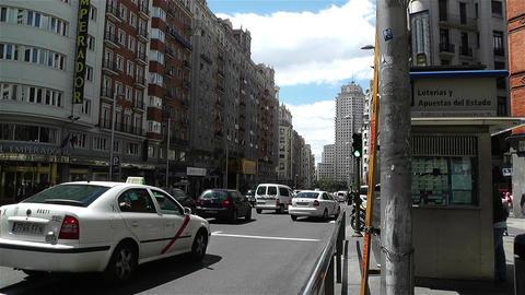 Gran Via Madrid Spain 4 Footage