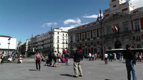 Madrid Spain Puerta Del Sol 1 Footage