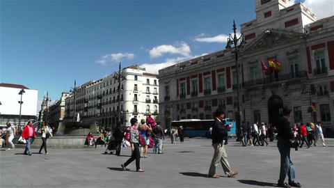 Madrid Spain Puerta Del Sol 1 Stock Video Footage