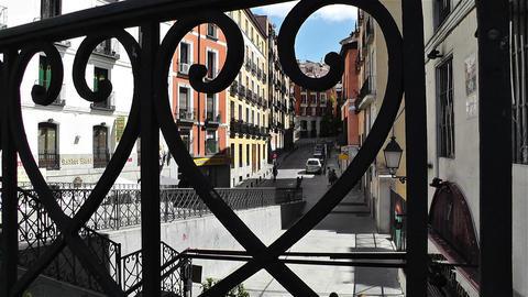 Madrid Spain street 2 Stock Video Footage