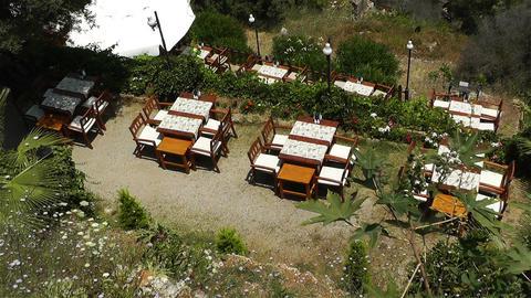 Mediterranean Restaurant stock footage