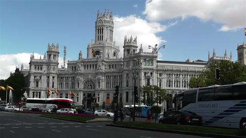 Plaza De Cibeles Palacio De Comunicaciones 1 Stock Video Footage