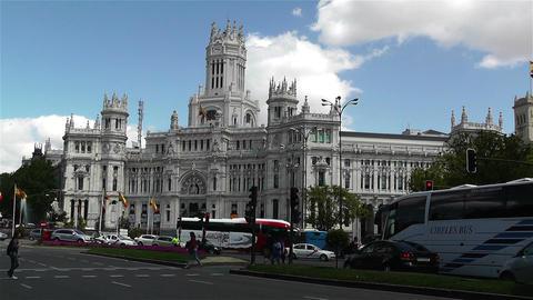 Plaza De Cibeles Palacio De Comunicaciones 1 Footage