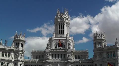Plaza De Cibeles Palacio De Comunicaciones 5 Stock Video Footage