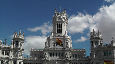 Plaza De Cibeles Palacio De Comunicaciones 5 Stock Video Footage